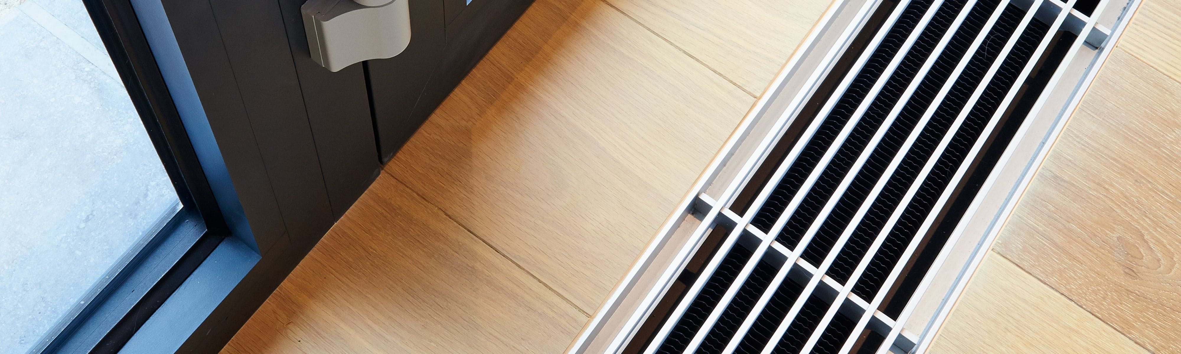 Air duct on a wood floor.