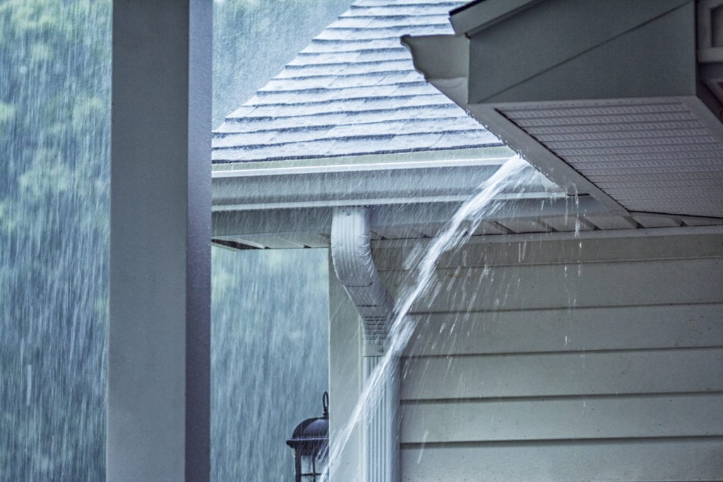 pouring rain representing how to protect your ac from storms